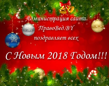 В новый 2018 год с ПравоВед.BY